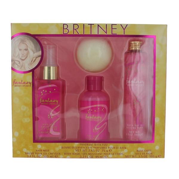 Britney spears fantasy hair mist 100ml + body wash 95ml + bath salts 100gr.